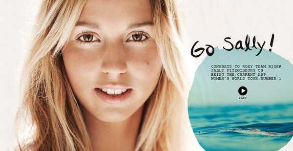 Sally Fitzgibbons surfeuse team roxy