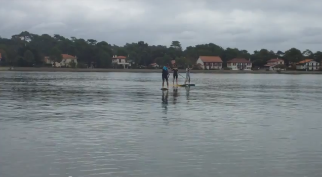 Stand-up Paddle sur le lac d'Hossegor