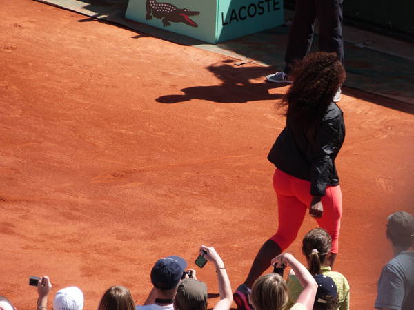 serena williams legging rose