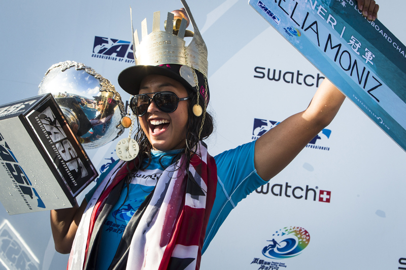 Kelia Moniz vainqueur swatch pro china 2012