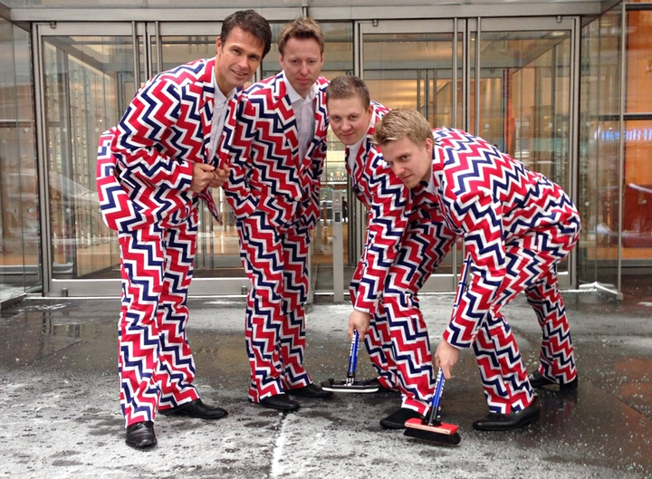 The Norway's Men's Olympic Curling Team