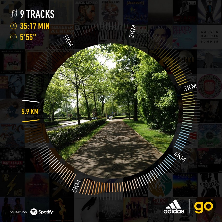 J'ai testé l'application adidas Go x Spotify